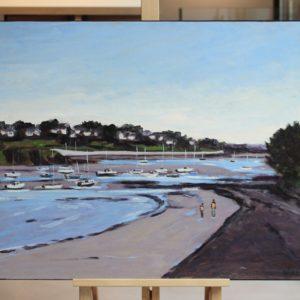 W.HIMO-le petit port de Saint-Briac, 50x65cm