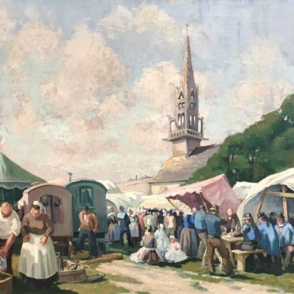 Sainte-Anne-la-Palud, huile sur toile, 81x100cm