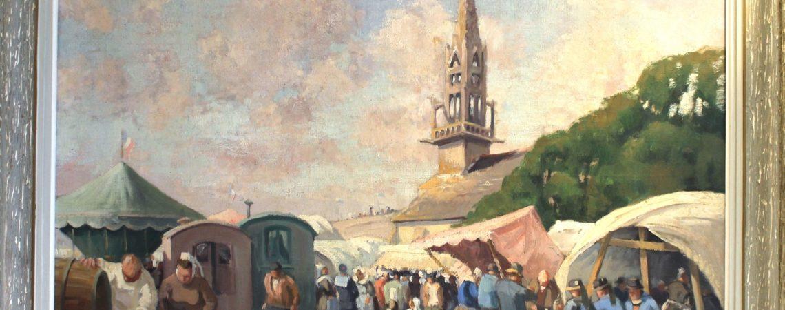 Le pardon de Sainte Anne la Palud, Huile sur toile, 81x100cm