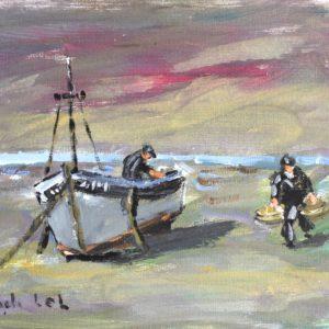 Fanch LEL, Retour de marée à St-Briac, 18x24cm