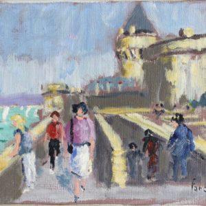 Fanch LEL, Saint-Malo, huile sur toile, 16x22cm