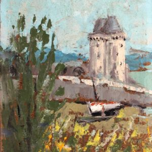 Fanch LEL, Solidor, St Malo,  acry sur isorel, 24x16cm