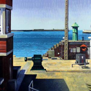 La Havre, la Capitainerie, huile sur toile, 100x73cm
