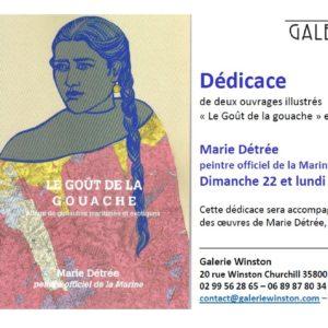 Dédicace Marie Détrée à la Galerie Winston
