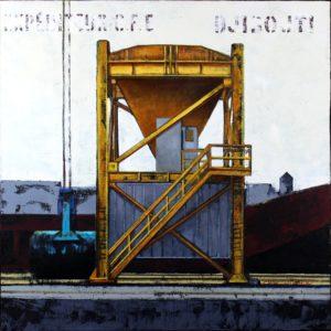 Djibouti, Variations, huile sur toile, 80x80cm