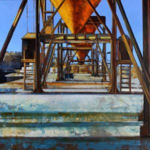Saint-Malo Trémie, huile sur toile, 80x80cm - VENDU