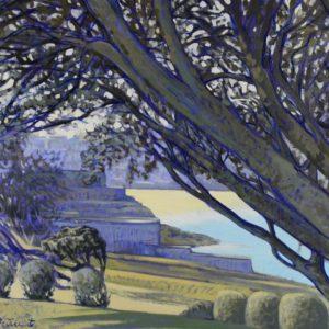 En regardant vers St-Enogat, huile sur toile, 100x70cm