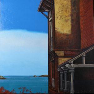 Marie Détrée, Villa Cézembre, huile sur toile, 60x60cm