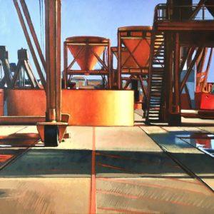 Saint-Malo, Quai I, huile sur toile, 52x80cm