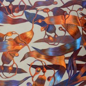 Marie Détrée, Courant d'algue, huile sur toile, 130x97cm