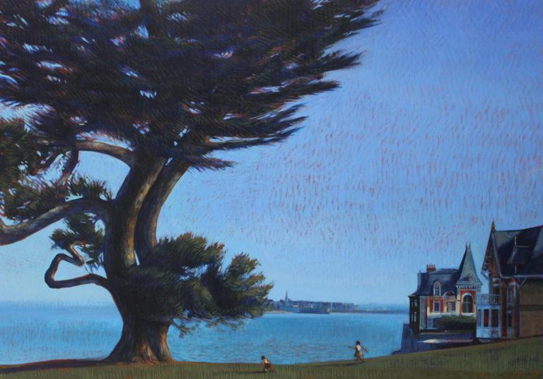 Marie Détrée, Pin maritime, huile sur toile, 116x81cm