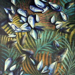 Marie Détrée, huile sur toile