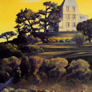 La Villa St-Germain, huile sur toile, 70x100cm