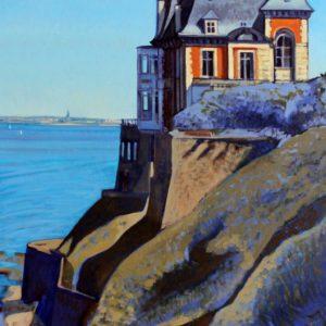 Les Roches Brunes, bleues, huile sur toile, 70x100cm