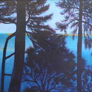 arie Détrée, Saint-Malo bleu, huile sur toile, 116x81cm