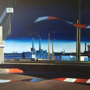 Tokyo, le Havre, huile sur toile, 82x100cm