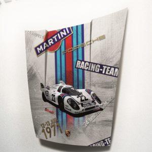 C.MANDALLAZ, Oeuvre sur capot de Porsche, 24 heures N°22 1971, PU
