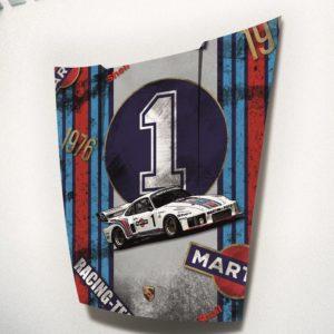 C.MANDALLAZ, Oeuvre sur capot de Porsche, 935 N° 1 - 1976, PU