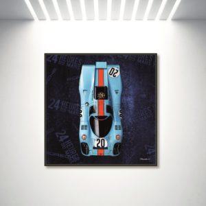 C.MANDALLAZ, Tableau Number 20 Expo mur blanc, pièce unique