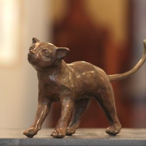 Jean Lemonnier, Chat queue en l'air, bronze n°3/8