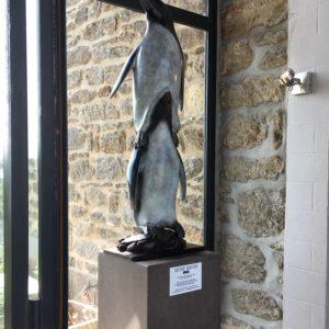 Jean Lemonnier, Manchots Totem, Bronze n°1/8, Fonderie Raybaud