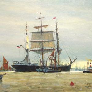 Roger Chapelet, Polynesia, huile sur toile, 54 x 72 cm