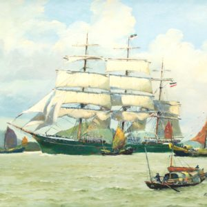 Roger Chapelet, Rickmer Rickmers, huile sur toile, 50 x 65 cm