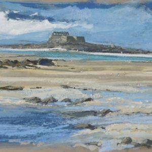 Hervé Louis, Fort Harbour, pastel, 70x34cm