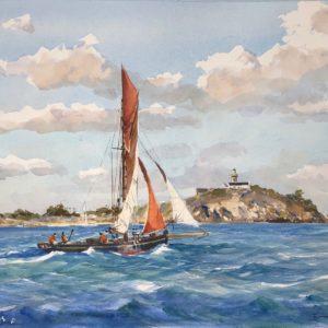 Guy L'Hostis, Travers Chausey, aquarelle, 46x33cm