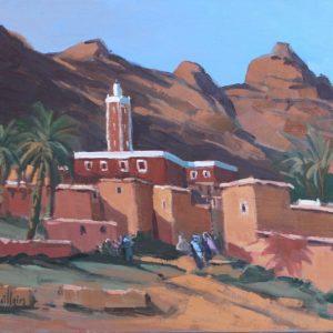 Guillain, Agar Oudad, huile sur toile, 46x55cm