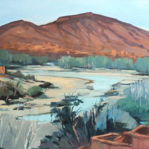 Guillain, Oued Daddes, huile sur toile, 30P