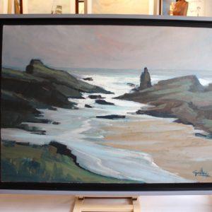 La Pointe des Poulains, Belle Ile, huile sur toile 73x100cm, 40P