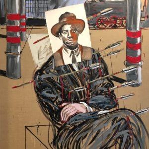 Nicolas VIAL, acrylique sur toile et technique mixte146x114cm