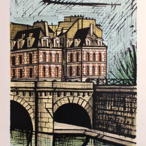 Bernard BUFFET, Le Pont Neuf, lithographie EA, 73x54cm