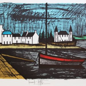 B. BUFFET, 417-Barque à Lomener,  lithographie 10-150, 1982, 58x76cm