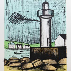 B. BUFFET, 420-Le phare du Guilvinec, 1er état,lithographie 9-50, 1983, 58x76cm