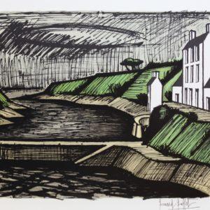 B.BUFFET, 414-La jetée, lithographie 10-150, 1982, 58x76cm
