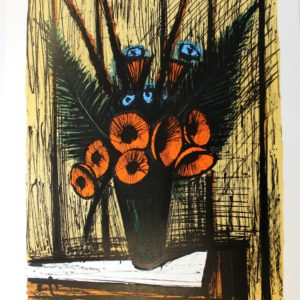Bernard BUFFET, Soucis dans un vase, 1981,108-150
