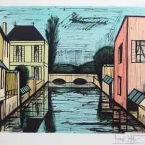 Bernard BUFFET, Pont sur la rivière, 1984