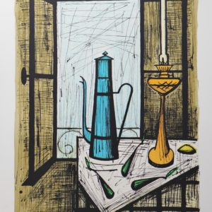 Bernard BUFFET-Cafetière bleue, 1984, lithographie n°150-150, 58x76cm