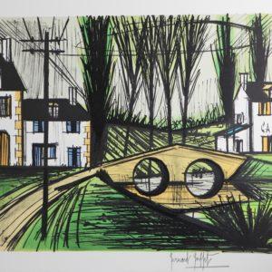 Bernard BUFFET-Le petit pont-1991,  lithographie 63-150, 58x76cm