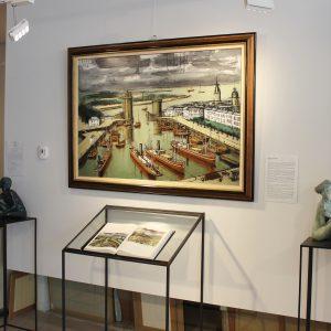 Bernard BUFFET, Le port de la Rochelle, huile sur toile, actuellement disponible à la Galerie Winston à Dinard