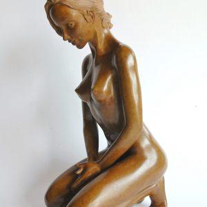 Luxure, souvenance, pudique, sculpture en bronze Margot PITRA