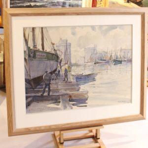 Marin-Marie, aquarelle, La Rochelle, 55x72cm