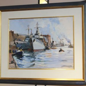 Lucien-Victor Delpy, Le Port de Brest, 1936, 50x64cm
