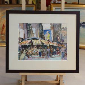 Lucien-Victor Delpy, Rue de Buci, Paris 1958, 24x34cm