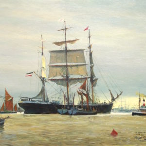 Roger Chapelet, Polynesia, huile sur toile, 54x72 cm