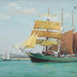 Roger Chapelet, Côte d'Emeraude, Saint-Malo, Gouache, 41x27 cm
