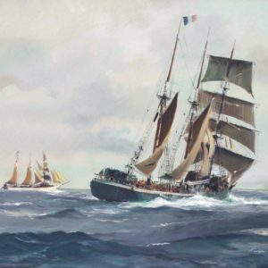 Roger Chapelet, L'Emeraude, gouache, 45x64cm