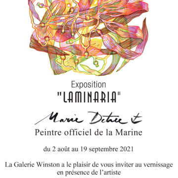 Exposition «Laminaria» de Marie Détrée, peintre officiel de la Marine